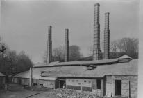 The Chyandour smelter with its four stacks, one for each furnace (photo courtesy of Morrab Library Photo Archive)